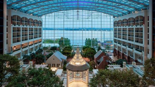 Interior of the Gaylord National Resort and Convention Center in the National Harbor