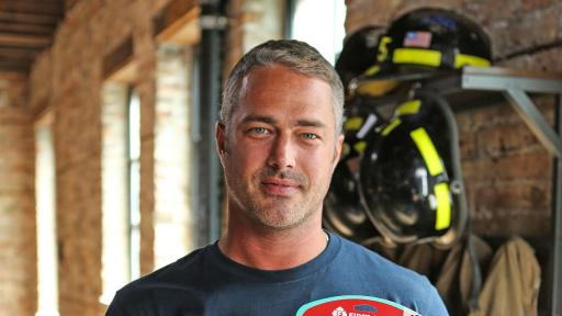 Taylor Kinney with First Alert 10-Year Smoke & CO Alarm
