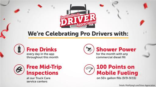 Celebrating Pro Drivers graphic
