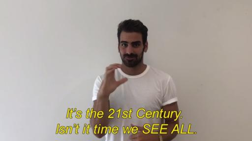 Play Video: Compelling words from model, actor and deaf activist Nyle DiMarco