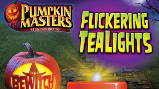 Flickering Tealights for pumpkins.