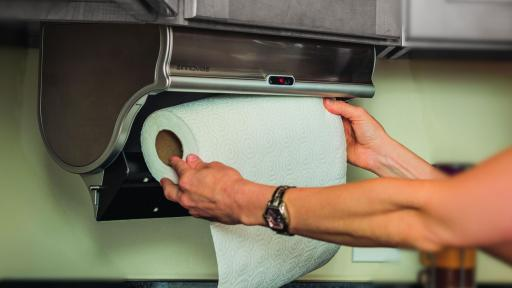 A great gift for anyone who wants to make kitchen clean up easier, the Innovia® Paper Towel Dispenser is easy to install and ready to provide hands-free clean up in just minutes.