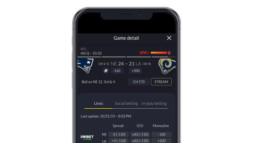 Fantasy app on phone