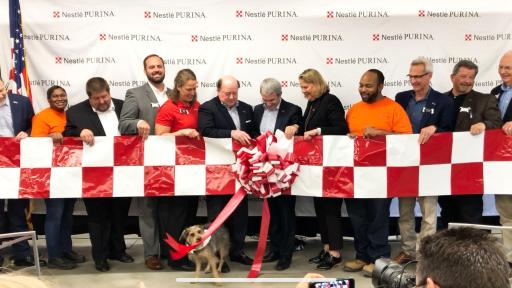 Purina celebrates the grand opening of its 21st U.S. factory.