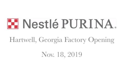 Play Video: Nestlé Purina PetCare Company today commemorated the opening of its 21st factory in the United States