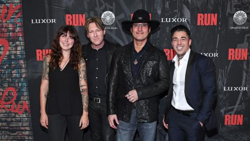 (L-R), Alexis Krauss, Tyler Bates, Robert Rodriguez and Michael Schwandt at World Premiere of R.U.N, Nov. 14