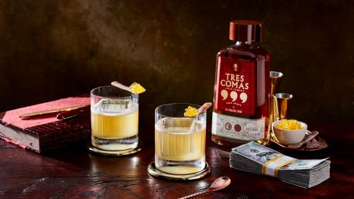 The Re-Billionizer Cocktail Made with Tres Comas Añejo Tequila
