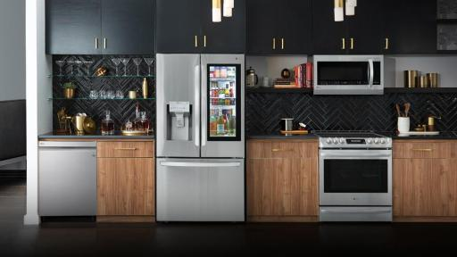 Kitchen filled with LG appliances