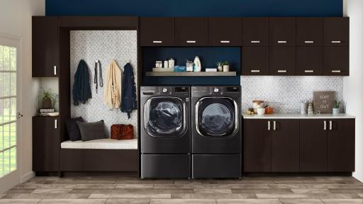 LG AI Front Load Washer and Dryer