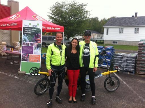 Lloyd, Bob and Marie-Ève of CNIB in Trois-Rivières, QC.