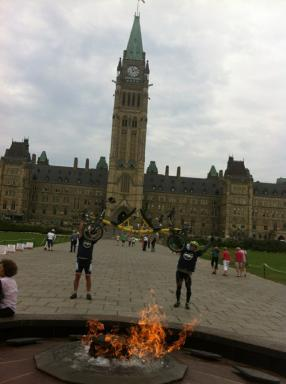 Bob and Lloyd at Parliament Hill