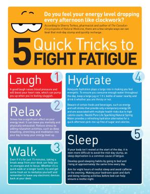 5 Quick Tricks to Fight Fatigue