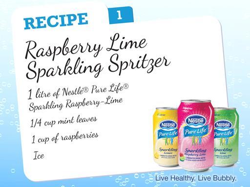 Raspberry Lime Sparkling Spritzer