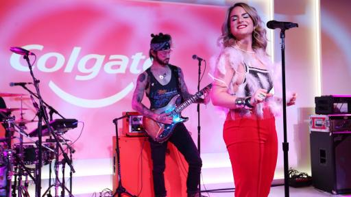 Singer JoJo performs live at the Colgate event