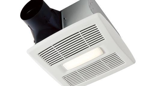 un ventilateur de salle de bains pas comme les autres avec son clairage d coratif les. Black Bedroom Furniture Sets. Home Design Ideas