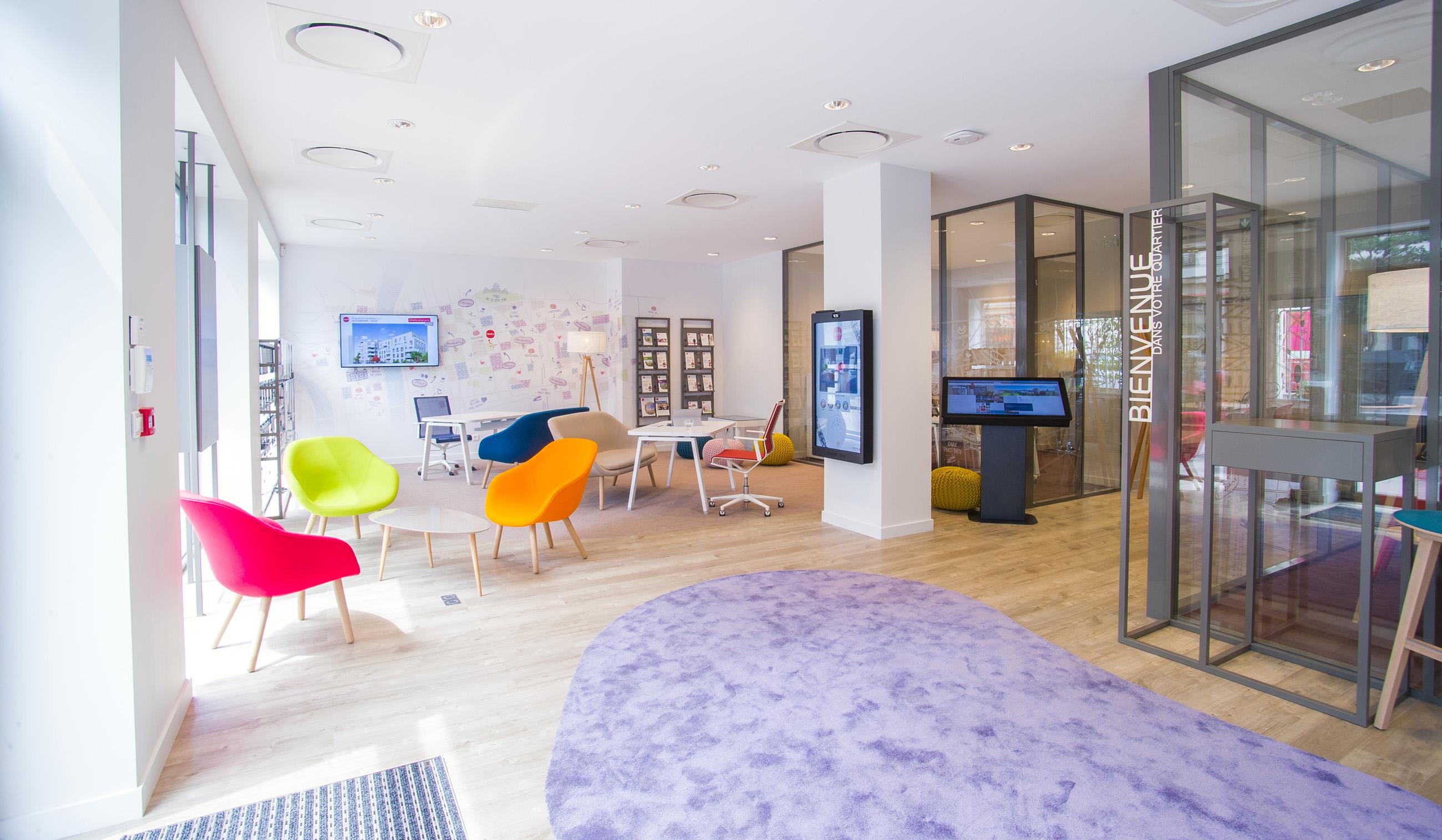 nexity ouvre sa premi re agence connect e lyon cours vitton. Black Bedroom Furniture Sets. Home Design Ideas