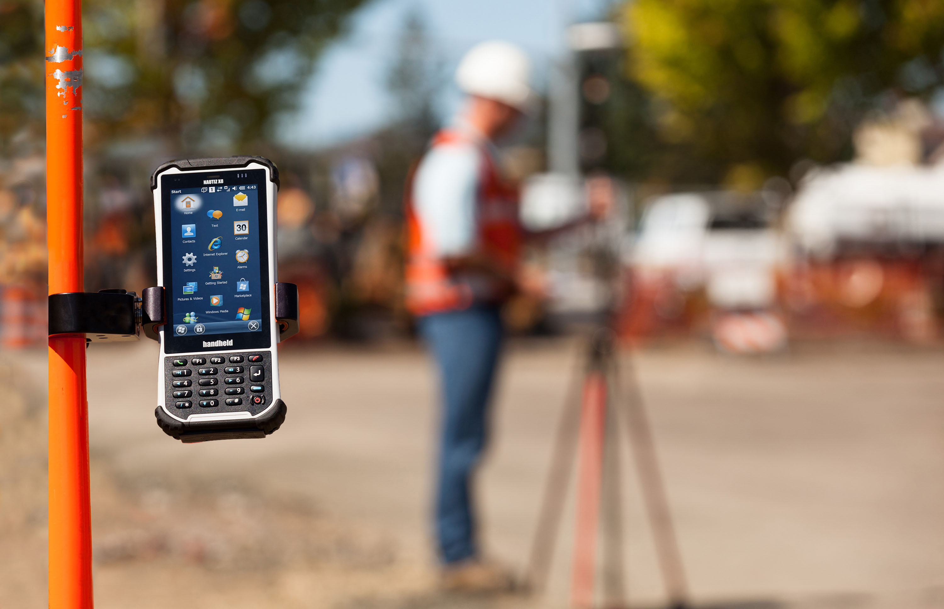 Handheld launches the NAUTIZ X8 — a new ultra rugged field PDA with  #C42807