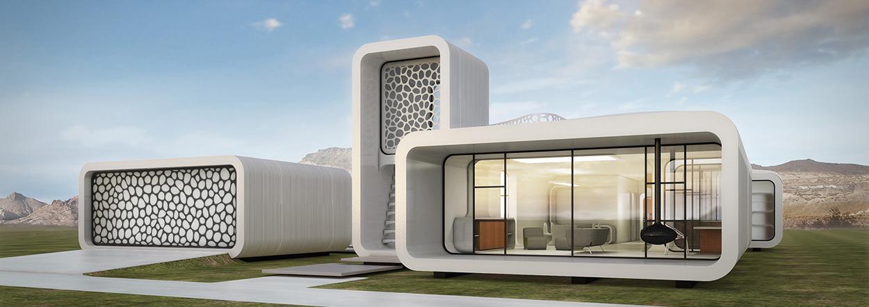 Gedung kantor ini dibuat dari printer 3D full !