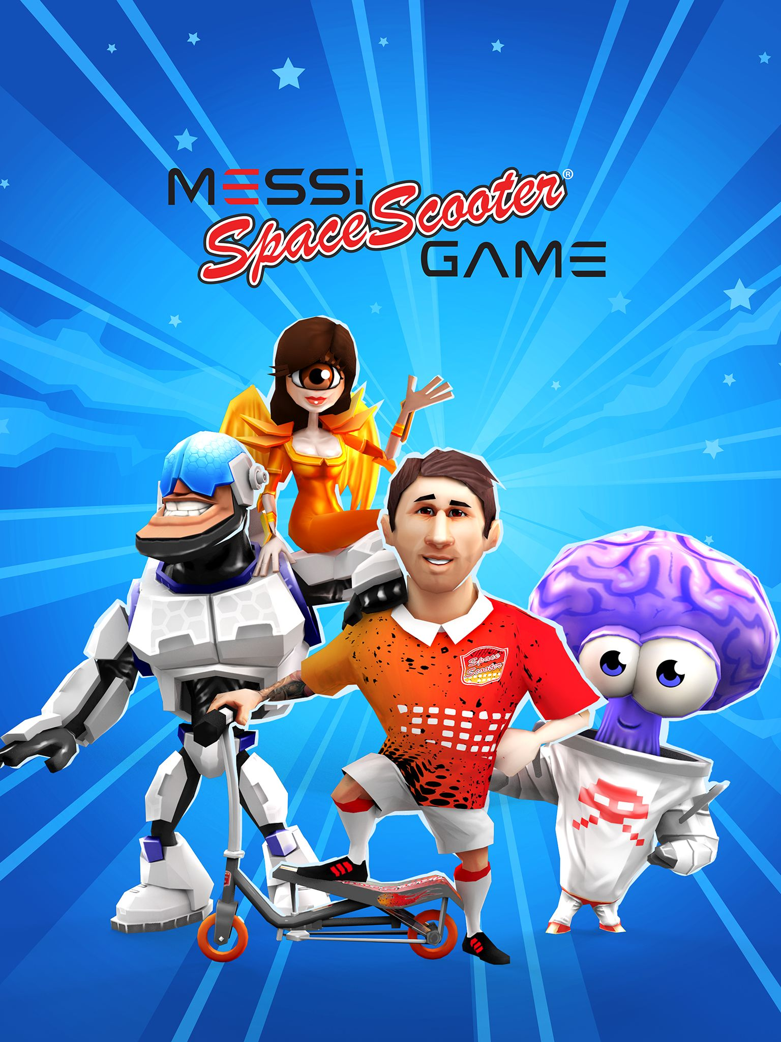 Messi has his own space scooter game meet the members of the messi space scooter game m4hsunfo Choice Image