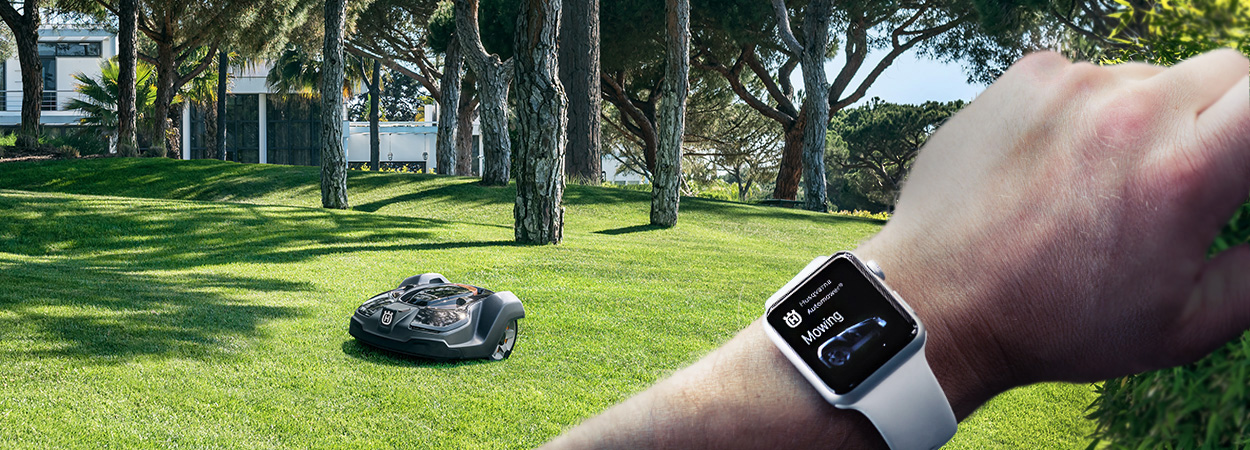 Husqvarna launches first Apple Watch™ app for robotic mowers