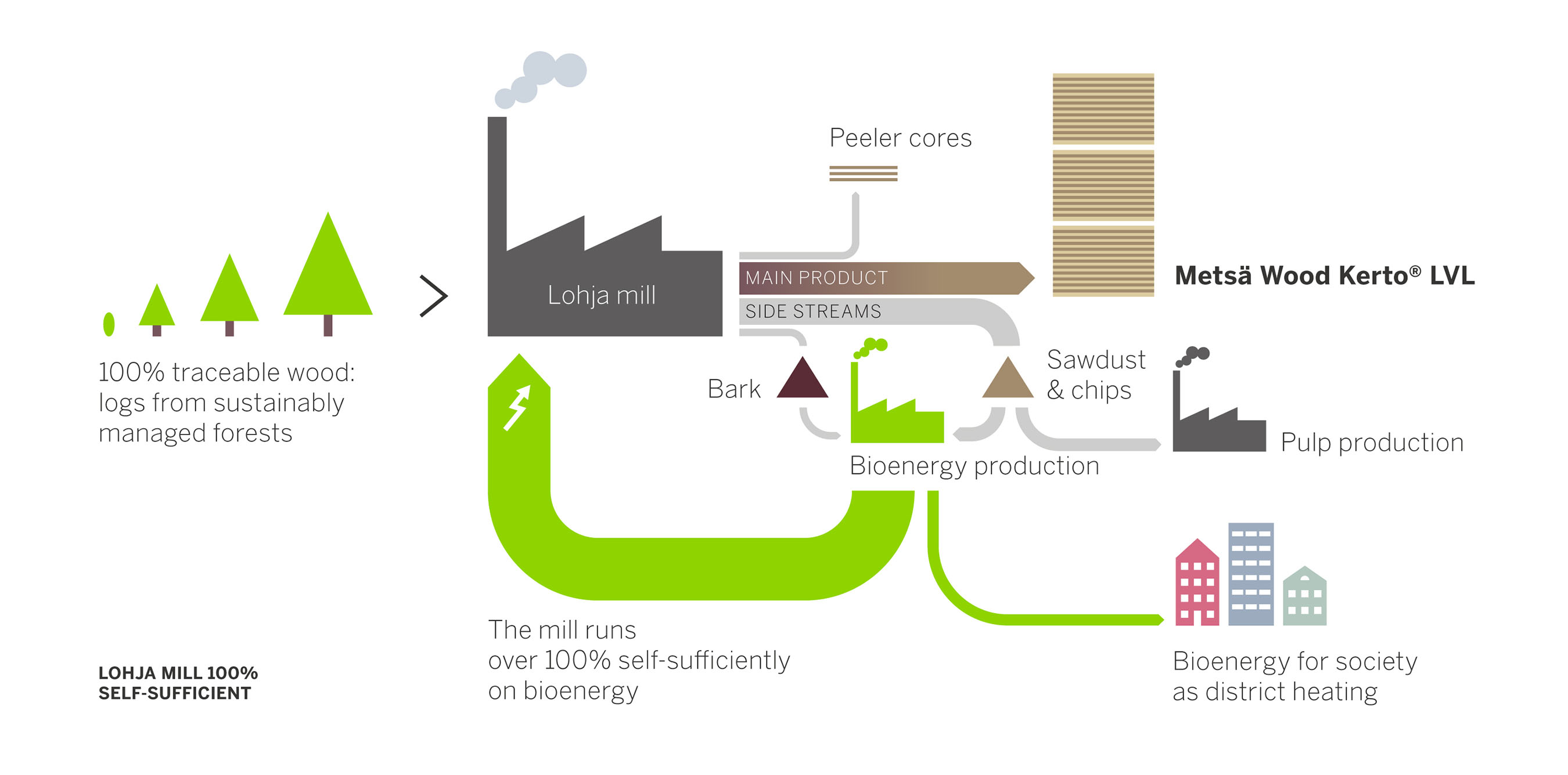 Sustainable building materials produced with 100 bioenergy for Construction bio