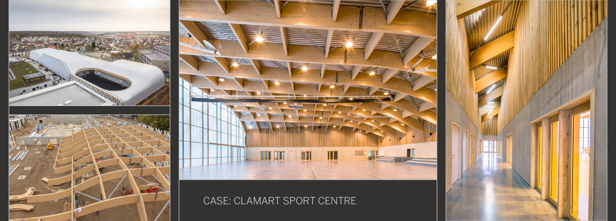 Urban Sports Centre With Unforeseen Wooden Curves