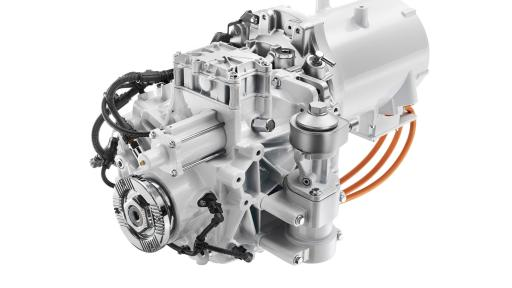 The FL Electric powertain includes the Volvo 2-speed transmission and an 185 kW electric motor