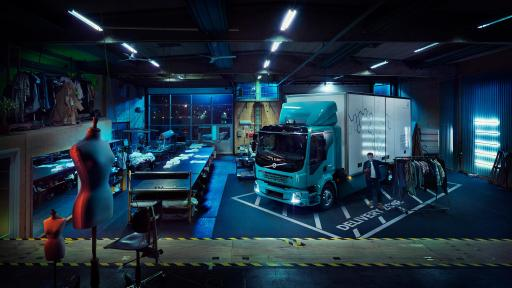 No exhaust emissions – Volvo's electrically powered truck can be used where other vehicles are not allowed to drive.