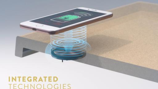 Wireless charging coil inclusion patented process