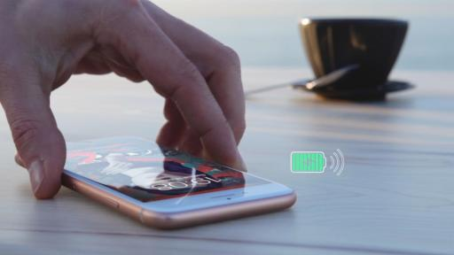 Wireless charging table furniture fully smooth table top innovation