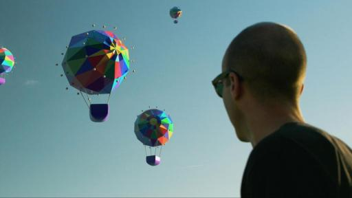Artist Matt Moore sees hot air balloons