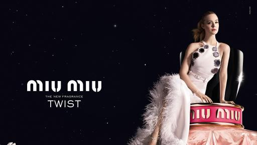 Elle Fanning is the face of Miu Miu Twist, the new fragrance by Miu Miu. The advertising visual was shot by talented Mert and Marcus .