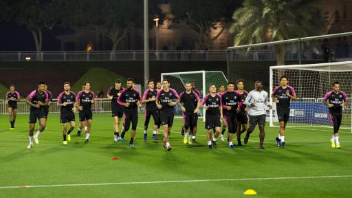 Image of players on Qatar Tour Training.