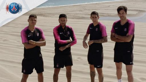 Video of Paris Saint Germain Football players in Doha Qatar