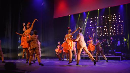 Image of dancers on stage at The XXI Habanos Festival Tribute Evening.