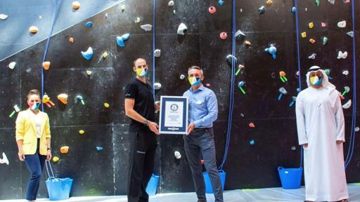 "CLYMB™ Abu Dhabi Awarded ""World's Tallest Indoor Artificial Climbing Wall"" GUINNESS WORLD RECORDS™ title"