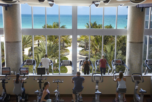 According to a TripAdvisor survey, the hotel gym is travelers' top spot for vacation work-outs. (A TripAdvisor traveler photo)