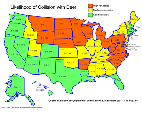 Likelihood of Collision with Deer