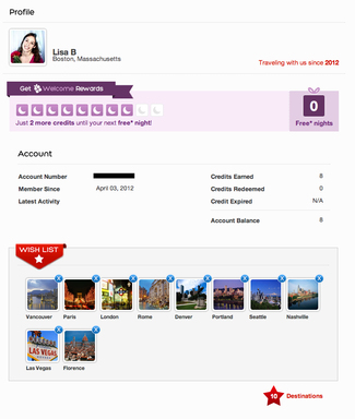 Create a personalized profile that tracks Welcome Rewards credits and compiles all the destinations you wish to travel to in a convenient Wish List.