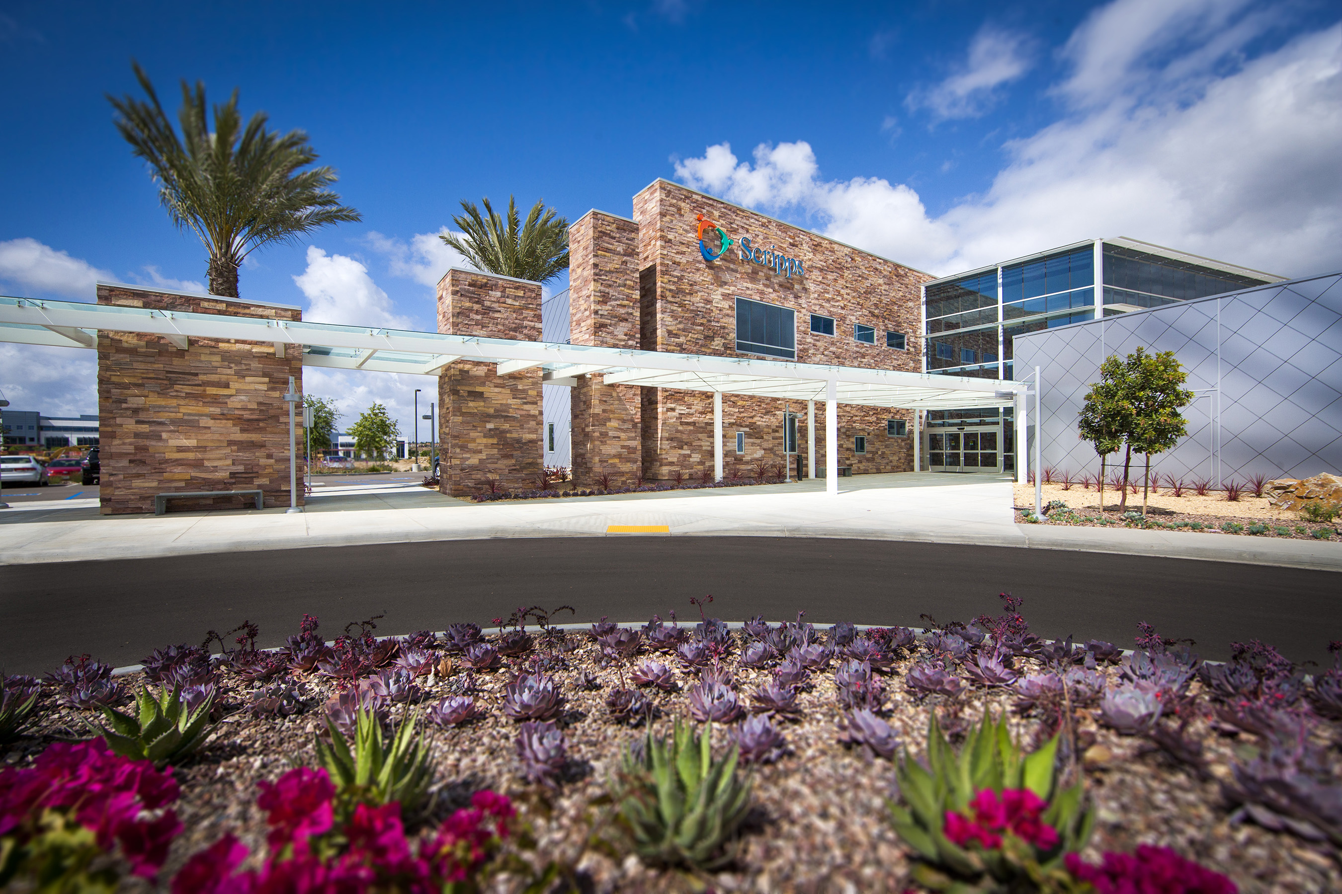 Exterior of Scripps Proton Therapy Center