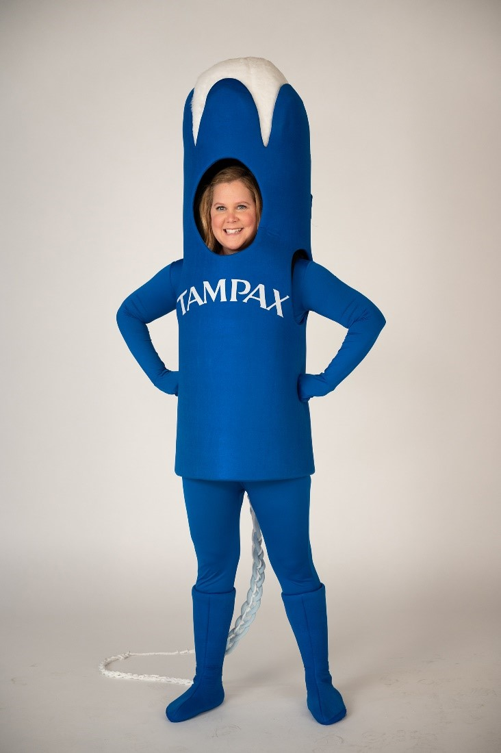 Amy Schumer in Tampax costume