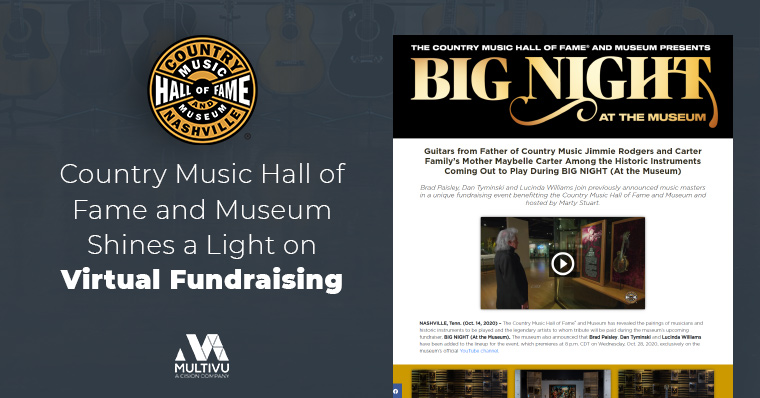 Country Music Hall of Fame and Museum Shines a Light on Virtual Fundraising