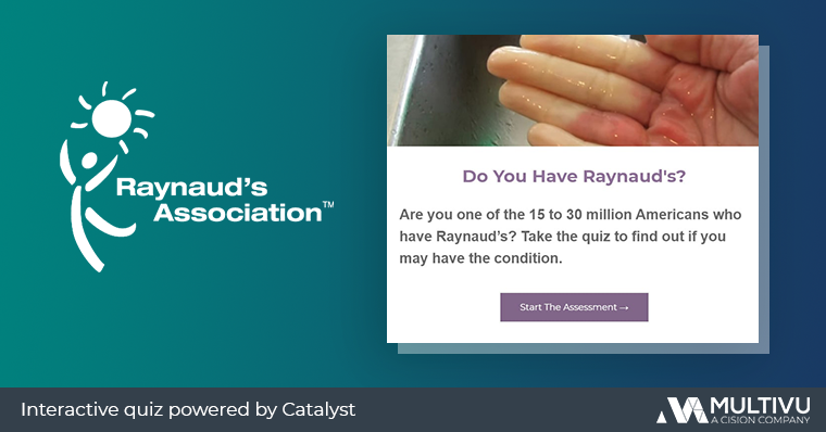 Raynaud's Association Catalyst interactive quiz