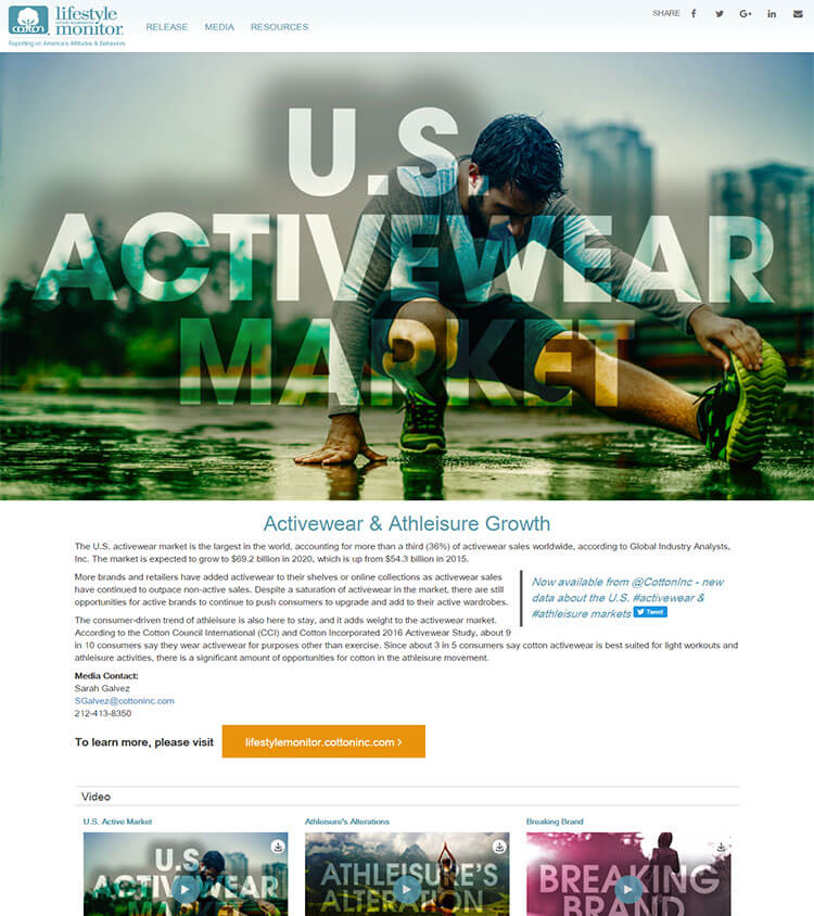 cotton incorporated lifestyle monitor CMS