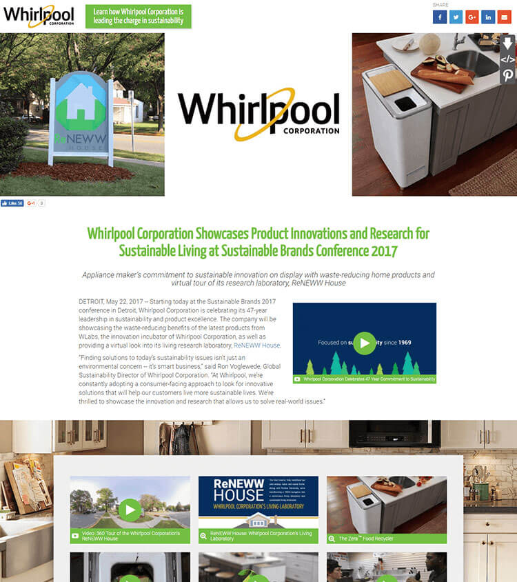 Whirlpool Sustainable Brands Conference 2017 MNR