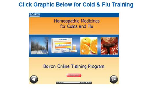 Boiron Online Training Screen