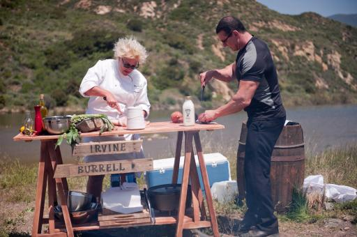 Anne Burrell and Robert Irvine