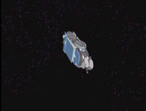 Satellite deployment animation