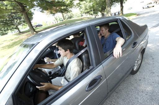 Teen Driver Boy and Passengers