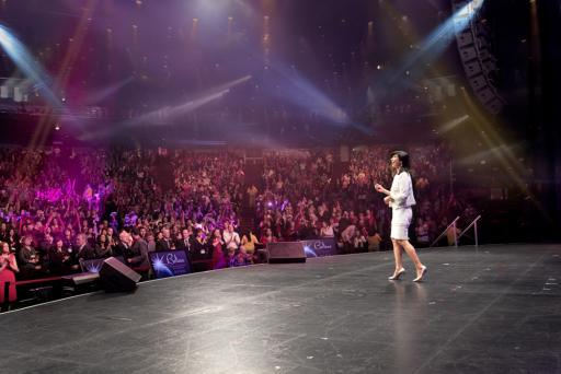 Andrea on Stage